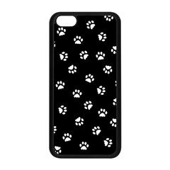 Footprints Cat White Black Apple Iphone 5c Seamless Case (black) by EDDArt