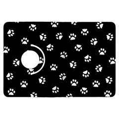 Footprints Cat White Black Kindle Fire Hdx Flip 360 Case by EDDArt