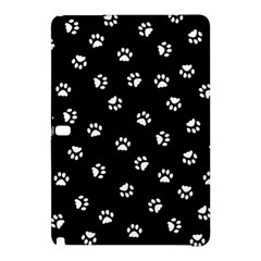 Footprints Cat White Black Samsung Galaxy Tab Pro 10 1 Hardshell Case by EDDArt