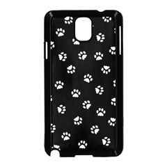 Footprints Cat White Black Samsung Galaxy Note 3 Neo Hardshell Case (black) by EDDArt