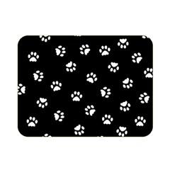 Footprints Cat White Black Double Sided Flano Blanket (mini)  by EDDArt