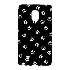 Footprints Cat White Black Galaxy Note Edge by EDDArt