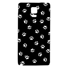 Footprints Cat White Black Galaxy Note 4 Back Case by EDDArt