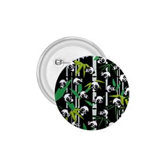 Satisfied And Happy Panda Babies On Bamboo 1 75  Buttons by EDDArt