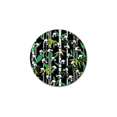 Satisfied And Happy Panda Babies On Bamboo Golf Ball Marker (10 Pack) by EDDArt