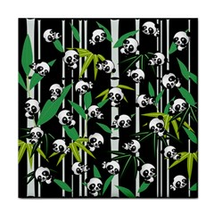 Satisfied And Happy Panda Babies On Bamboo Face Towel by EDDArt