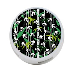 Satisfied And Happy Panda Babies On Bamboo 4 Port Usb Hub (one Side) by EDDArt