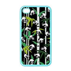 Satisfied And Happy Panda Babies On Bamboo Apple Iphone 4 Case (color) by EDDArt