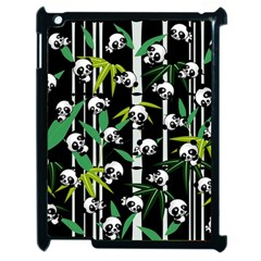 Satisfied And Happy Panda Babies On Bamboo Apple Ipad 2 Case (black) by EDDArt