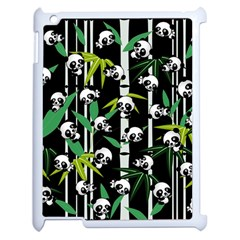 Satisfied And Happy Panda Babies On Bamboo Apple Ipad 2 Case (white) by EDDArt