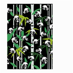 Satisfied And Happy Panda Babies On Bamboo Small Garden Flag (two Sides) by EDDArt