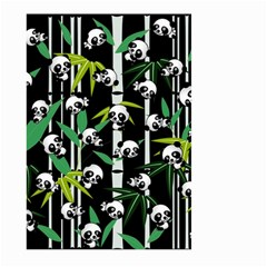 Satisfied And Happy Panda Babies On Bamboo Large Garden Flag (two Sides) by EDDArt