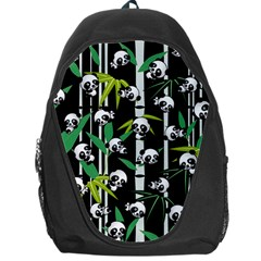 Satisfied And Happy Panda Babies On Bamboo Backpack Bag by EDDArt