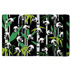 Satisfied And Happy Panda Babies On Bamboo Apple Ipad 3/4 Flip Case by EDDArt