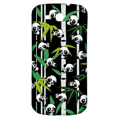 Satisfied And Happy Panda Babies On Bamboo Samsung Galaxy S3 S Iii Classic Hardshell Back Case by EDDArt
