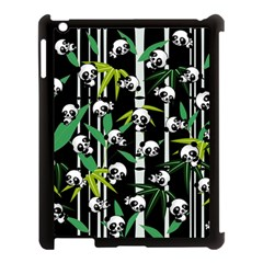 Satisfied And Happy Panda Babies On Bamboo Apple Ipad 3/4 Case (black) by EDDArt