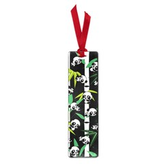 Satisfied And Happy Panda Babies On Bamboo Small Book Marks by EDDArt