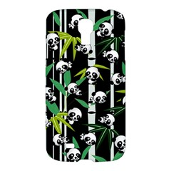 Satisfied And Happy Panda Babies On Bamboo Samsung Galaxy S4 I9500/i9505 Hardshell Case by EDDArt