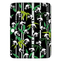 Satisfied And Happy Panda Babies On Bamboo Samsung Galaxy Tab 3 (10 1 ) P5200 Hardshell Case  by EDDArt