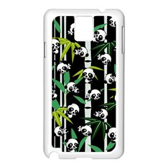 Satisfied And Happy Panda Babies On Bamboo Samsung Galaxy Note 3 N9005 Case (white) by EDDArt
