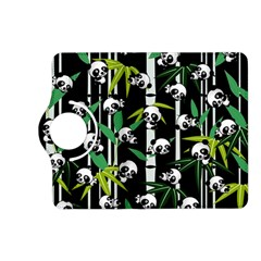 Satisfied And Happy Panda Babies On Bamboo Kindle Fire Hd (2013) Flip 360 Case by EDDArt