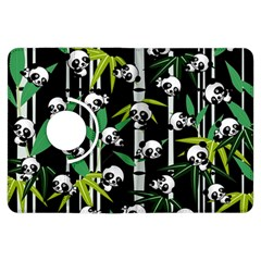 Satisfied And Happy Panda Babies On Bamboo Kindle Fire Hdx Flip 360 Case by EDDArt