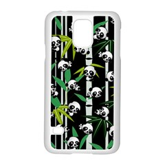 Satisfied And Happy Panda Babies On Bamboo Samsung Galaxy S5 Case (white) by EDDArt