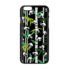 Satisfied And Happy Panda Babies On Bamboo Apple Iphone 6/6s Black Enamel Case by EDDArt