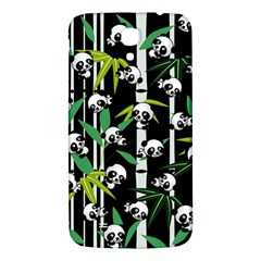 Satisfied And Happy Panda Babies On Bamboo Samsung Galaxy Mega I9200 Hardshell Back Case by EDDArt