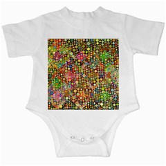 Multicolored Retro Spots Polka Dots Pattern Infant Creepers by EDDArt