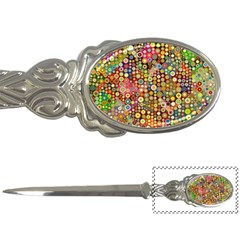 Multicolored Retro Spots Polka Dots Pattern Letter Openers by EDDArt