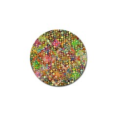 Multicolored Retro Spots Polka Dots Pattern Golf Ball Marker (10 Pack) by EDDArt