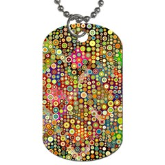 Multicolored Retro Spots Polka Dots Pattern Dog Tag (two Sides) by EDDArt