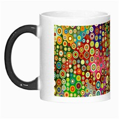 Multicolored Retro Spots Polka Dots Pattern Morph Mugs by EDDArt