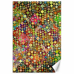 Multicolored Retro Spots Polka Dots Pattern Canvas 20  X 30   by EDDArt