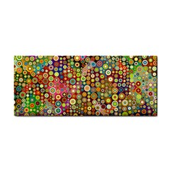 Multicolored Retro Spots Polka Dots Pattern Cosmetic Storage Cases by EDDArt
