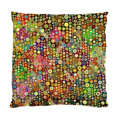 Multicolored Retro Spots Polka Dots Pattern Standard Cushion Case (two Sides) by EDDArt