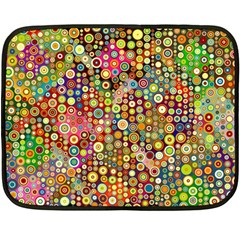 Multicolored Retro Spots Polka Dots Pattern Fleece Blanket (mini) by EDDArt