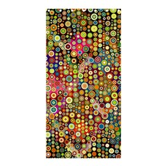 Multicolored Retro Spots Polka Dots Pattern Shower Curtain 36  X 72  (stall)  by EDDArt
