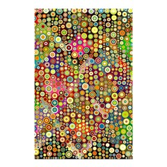 Multicolored Retro Spots Polka Dots Pattern Shower Curtain 48  X 72  (small)  by EDDArt