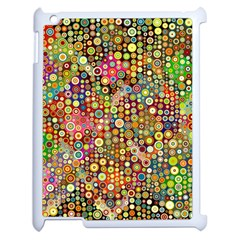 Multicolored Retro Spots Polka Dots Pattern Apple Ipad 2 Case (white) by EDDArt
