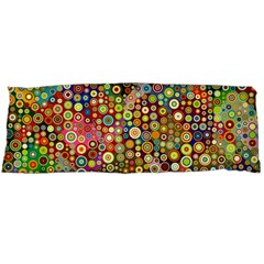 Multicolored Retro Spots Polka Dots Pattern Body Pillow Case (dakimakura) by EDDArt
