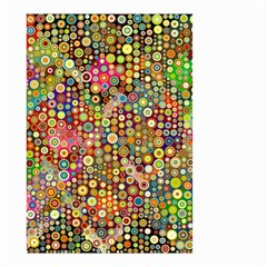 Multicolored Retro Spots Polka Dots Pattern Small Garden Flag (two Sides) by EDDArt