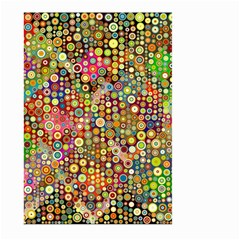 Multicolored Retro Spots Polka Dots Pattern Large Garden Flag (two Sides) by EDDArt