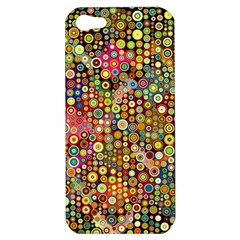 Multicolored Retro Spots Polka Dots Pattern Apple Iphone 5 Hardshell Case by EDDArt