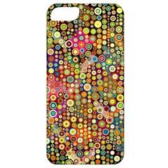 Multicolored Retro Spots Polka Dots Pattern Apple Iphone 5 Classic Hardshell Case by EDDArt