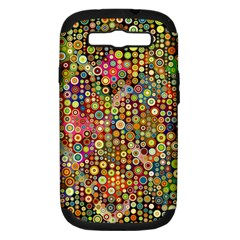 Multicolored Retro Spots Polka Dots Pattern Samsung Galaxy S Iii Hardshell Case (pc+silicone) by EDDArt