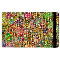 Multicolored Retro Spots Polka Dots Pattern Apple Ipad 3/4 Flip Case by EDDArt