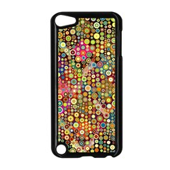 Multicolored Retro Spots Polka Dots Pattern Apple Ipod Touch 5 Case (black) by EDDArt