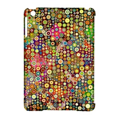 Multicolored Retro Spots Polka Dots Pattern Apple Ipad Mini Hardshell Case (compatible With Smart Cover) by EDDArt